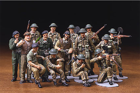 WW II British Infantry -European Campaign-16 figs