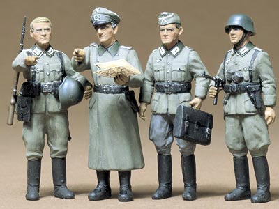 German Army Officer set (4 figures)
