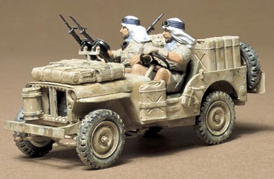 British SAS Jeep with 2 figures