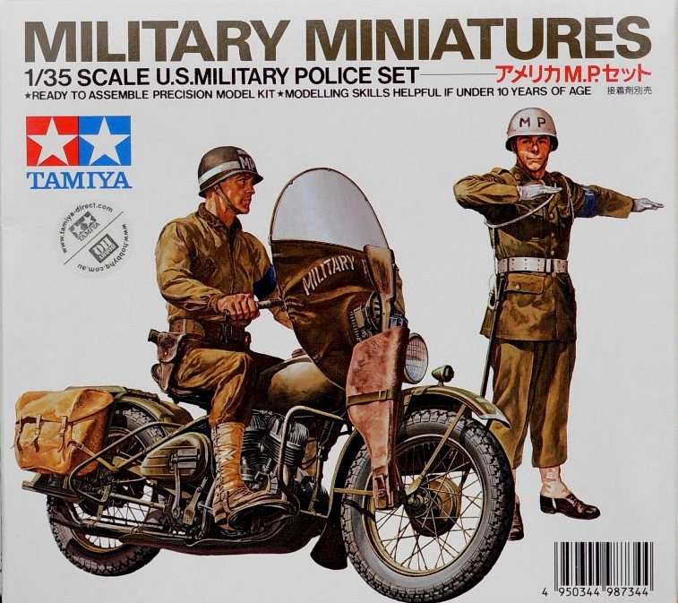 US Military Police Set w/ H.D. bike