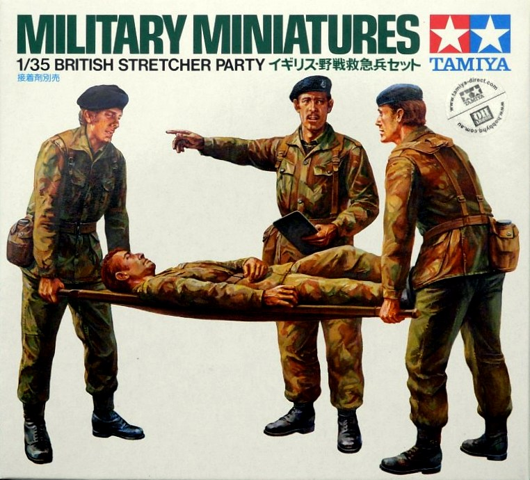 British Stretcher Party (4 figures) - Click Image to Close
