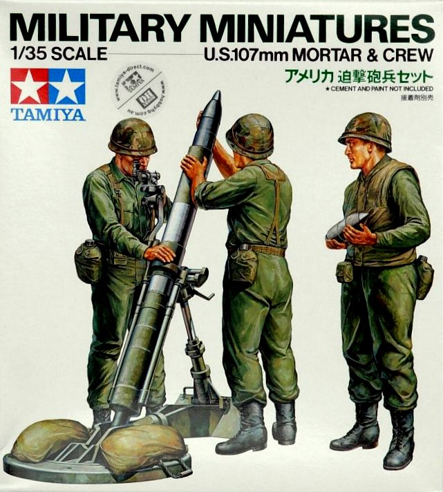 US 107mm Mortar & Crew Set