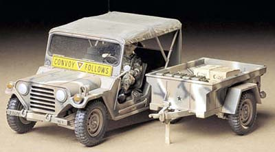 U.S. M-151 A2 Ford Mutt with M416 Cargo Trailer