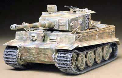 Tiger I Ausf. E Late Version. Steel wheels.