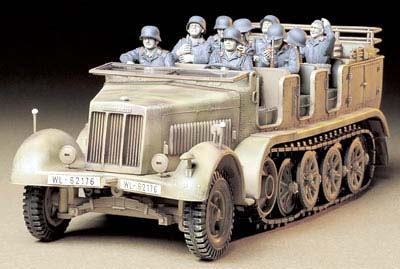 German 8 ton semi-track SdKfz.7 with crew
