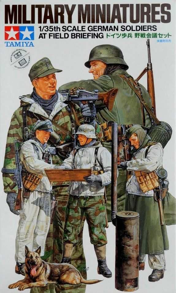 German Soldiers Field Briefing (5 Figures) - Click Image to Close