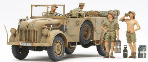 Steyr Type 1500A/01 & Africa Corps Infantry @ Rest