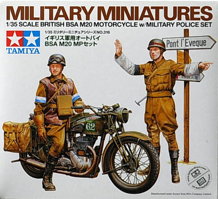 British BSA M20 Motorcycle w/MP Set