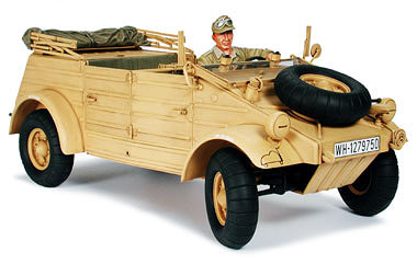 Kubelwagen Type 82 Africa with Rommel figure