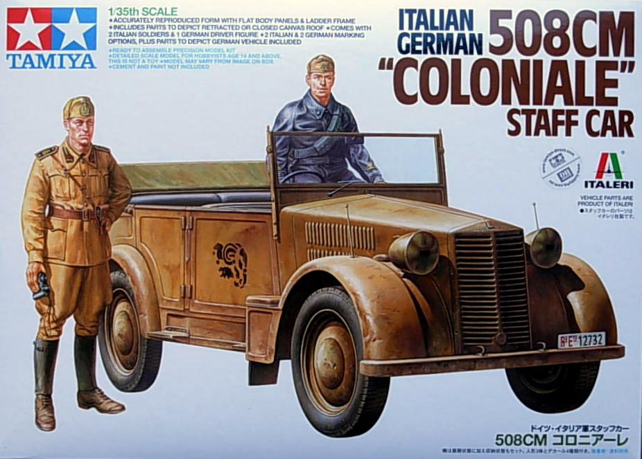Italian 508CM Coloniale (German) Staff car