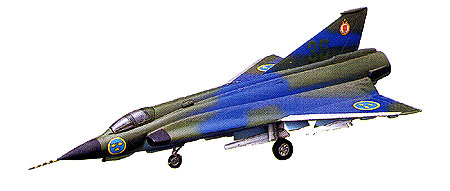 SAAB J-35F Draken - Click Image to Close