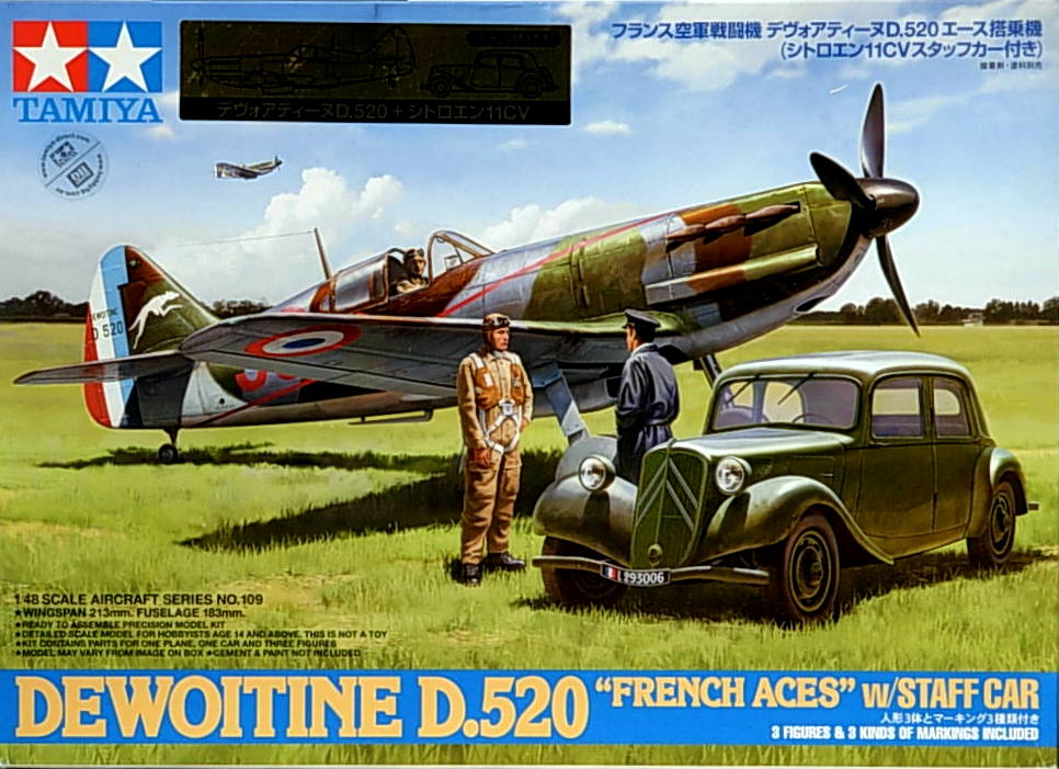 D.520 Ace Aircraft with staff Car