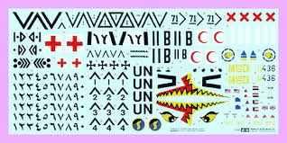 1/35th scale Gulf Operations Decal sheet
