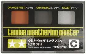 Weathering Pastel C-(orange rust/gun metal/silver)