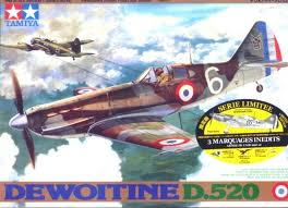 Dewoitine D.520- Special Edition Decals- shopsoiled