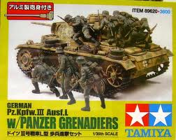 Panzer III L with 8 pc. Infantry set