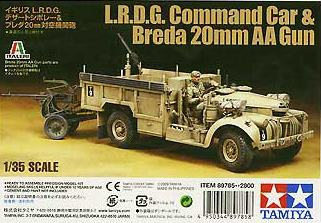 British LRDG with BREDA 20mm AA GUN