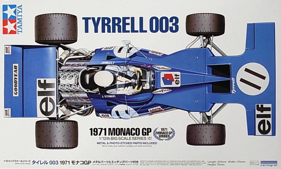 Ford Tyrrell 003 -1971 (w/Etched Parts)