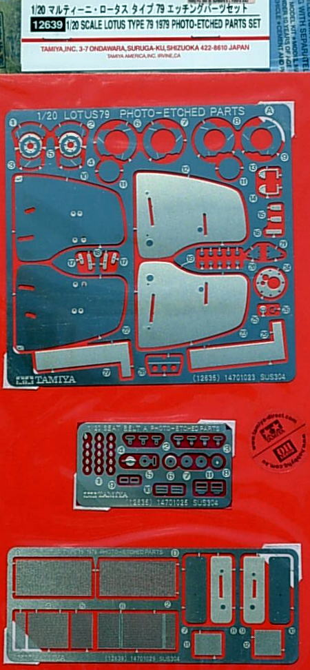 Martini Lotus Type 79 1979 Etching Parts Set