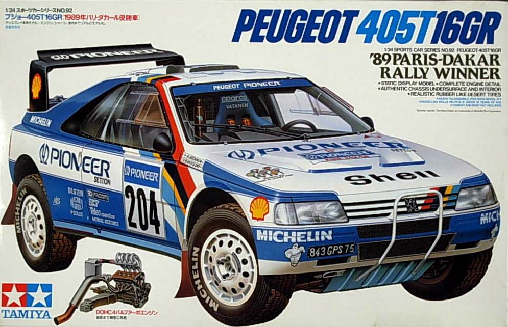 Peugeot 405T 16GR 1989 Paris-Dakar Winner