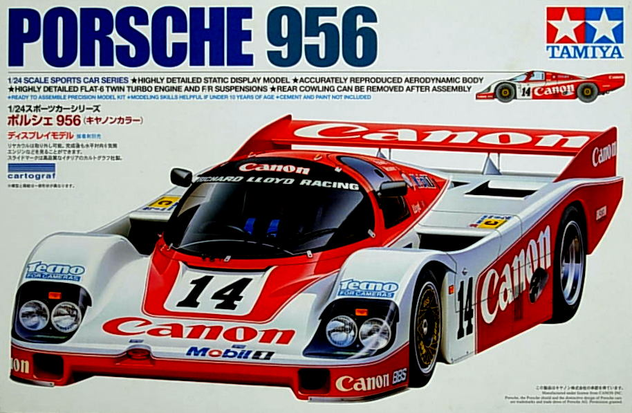 Porsche 956 Canon- with engine detail
