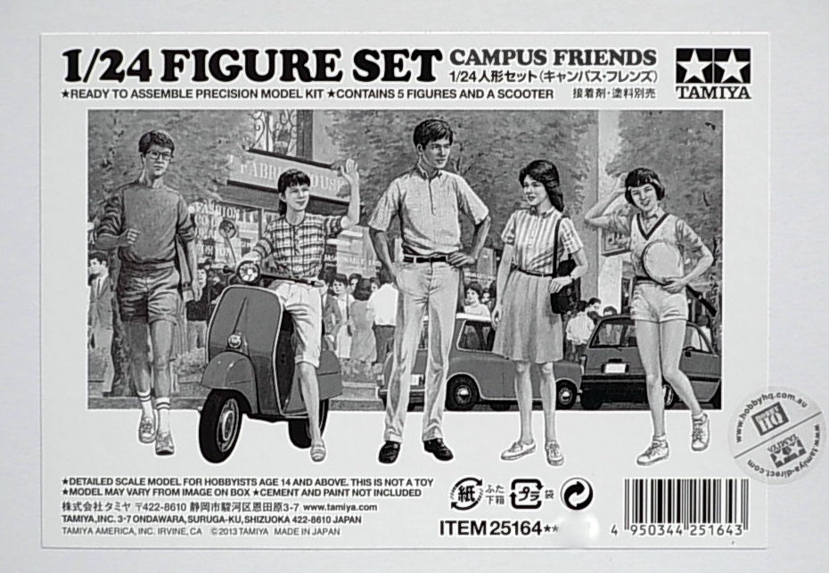 Campus Friends (5 figures & 1 scooter) Set