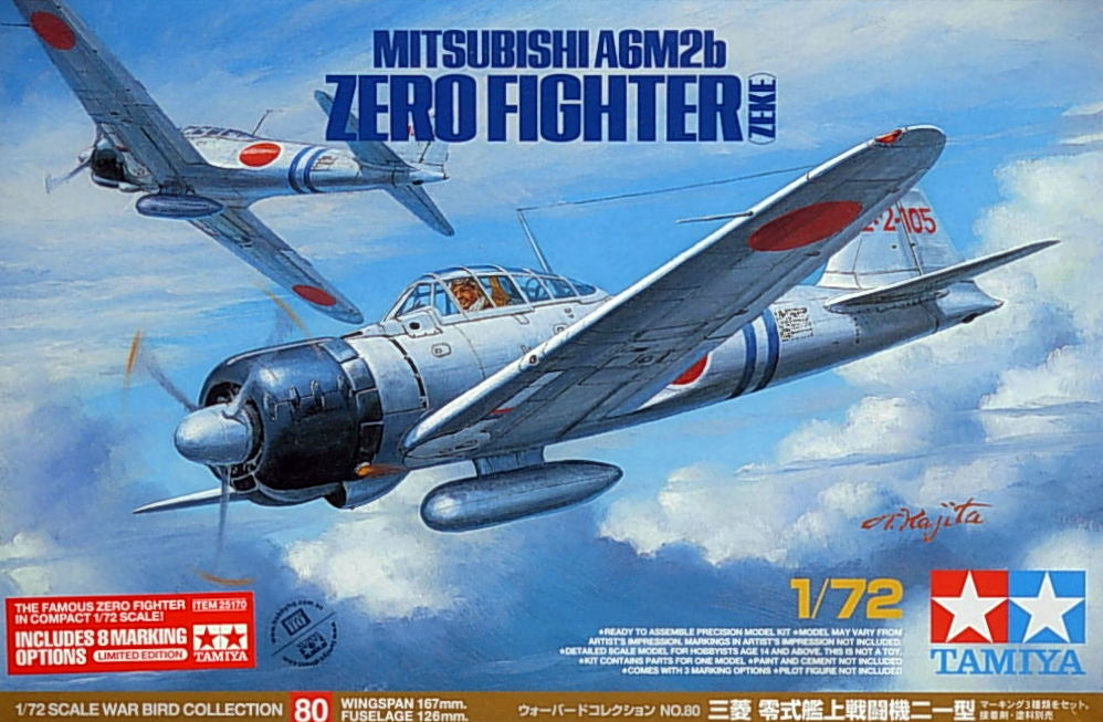 A6M2b Zero Fighter (Zeke) - w/8 Marking Options