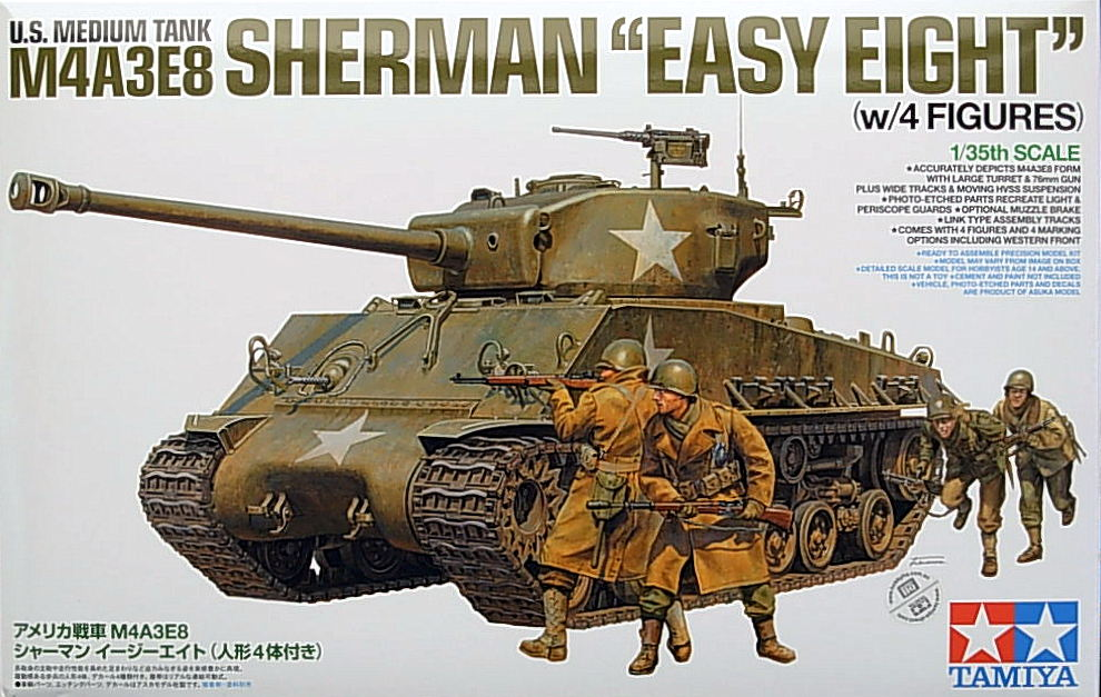M4A3E8 Sherman Easy Eight w/4 figures