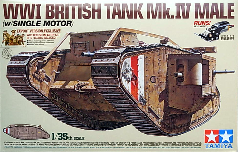 Mark IV Male WW1 Tank (Motorized)