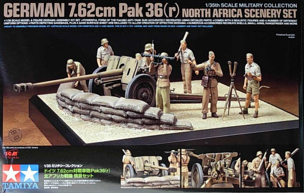 7.62cm AT gun PAK36(r) North African Diorama