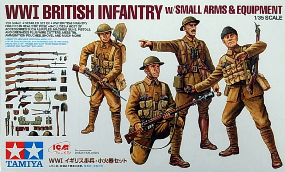 WW1 British Infantry w/small Firearms