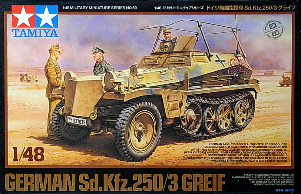 SdKfz 250/3 Greif w/Rommel and figures