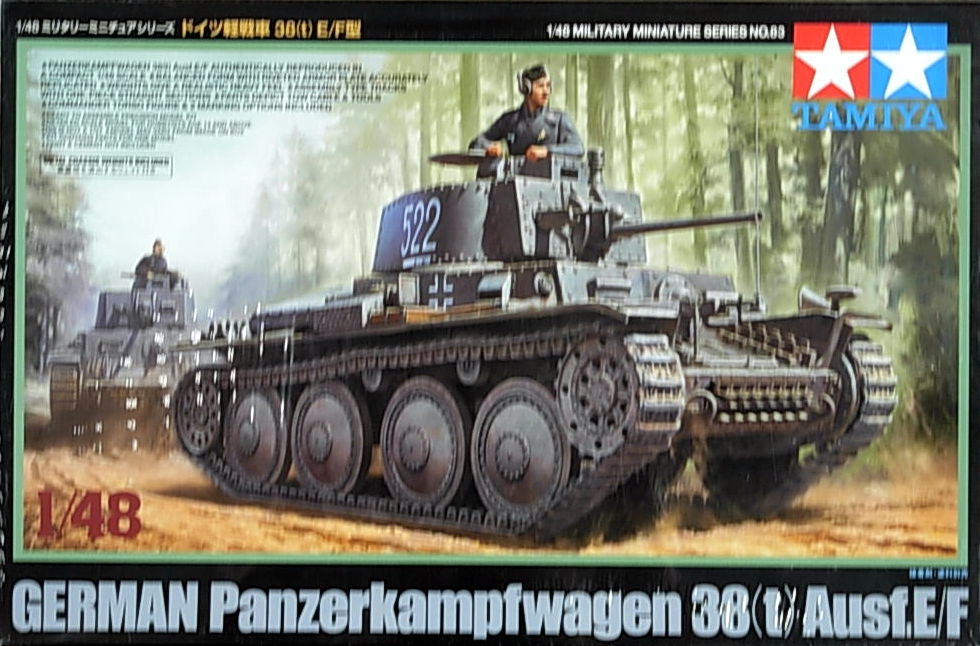 German 38 (t) Light Tank E/F