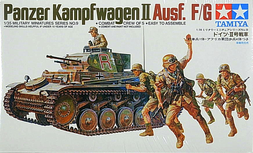 Panzer II Ausf. F/G with 5 figures