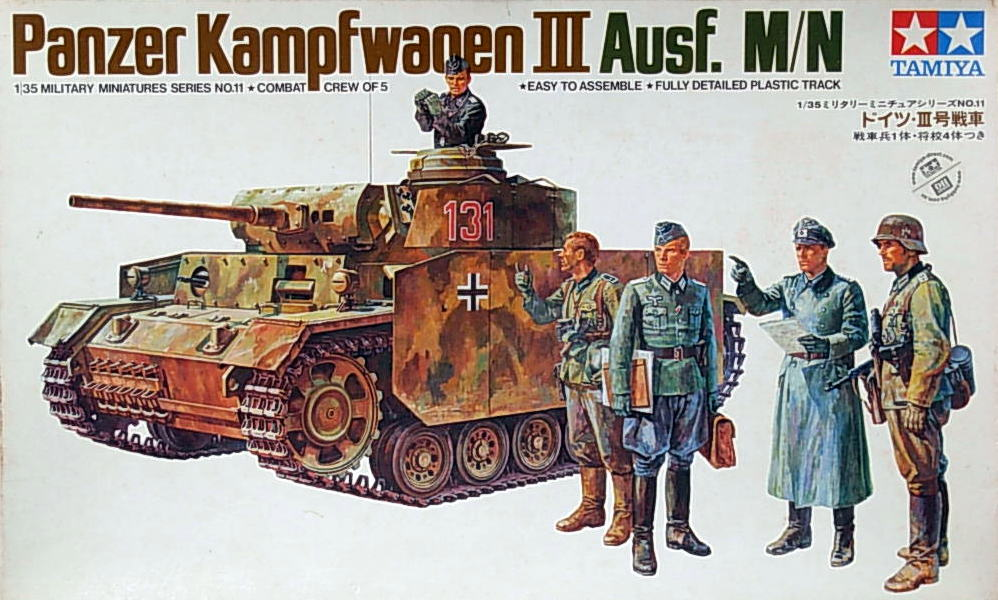 Panzer III Ausf M/N with 5 figures (MM111)