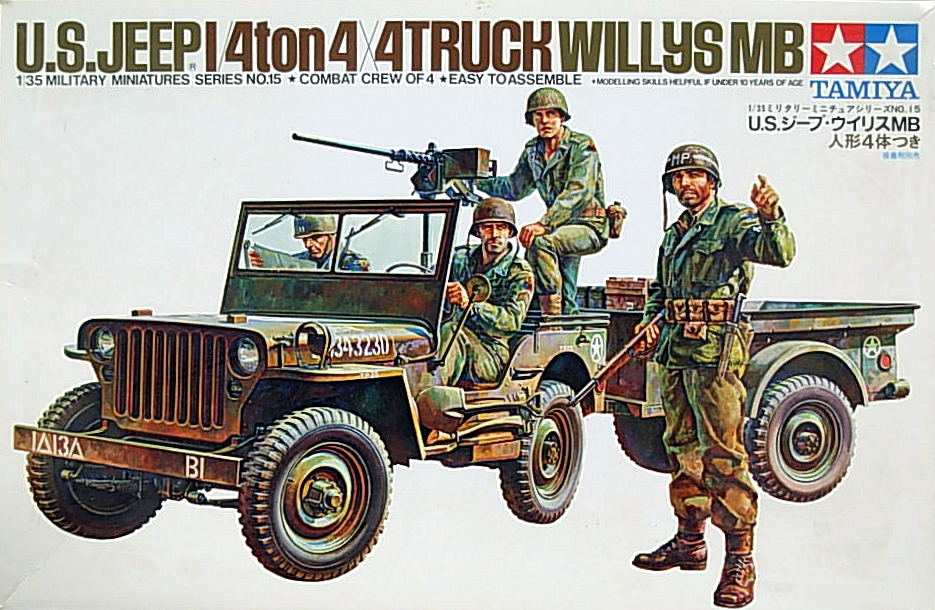 U.S. Jeep Willys MB with Trailer