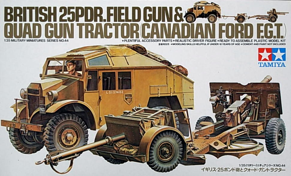 25 pdr Gun with Quad Tractor