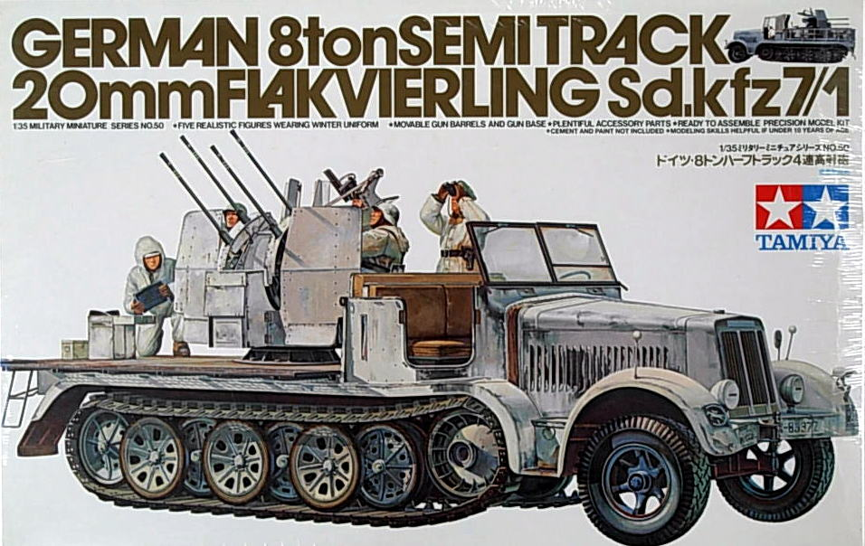 SdKfz. 7/1 8 ton semi-track with Flakvierling 38