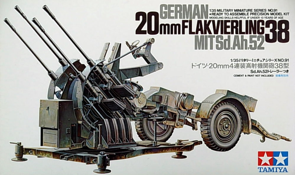 German 20mm Flakvierling 38 Quad AA guns