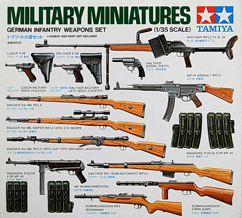 German Infantry Weapons Set