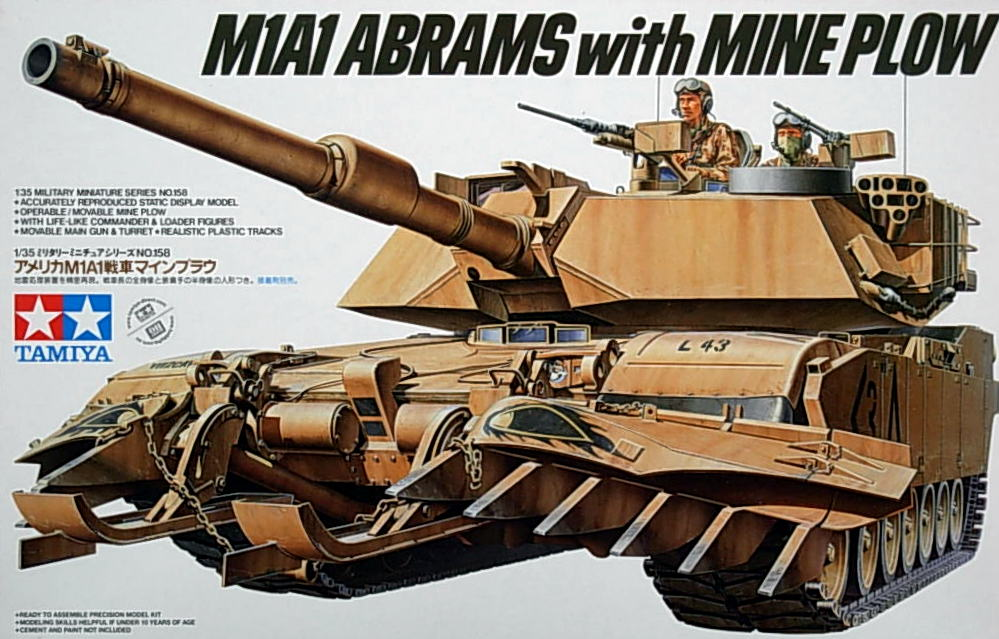 US M1A1 Abrams with Mine Plow