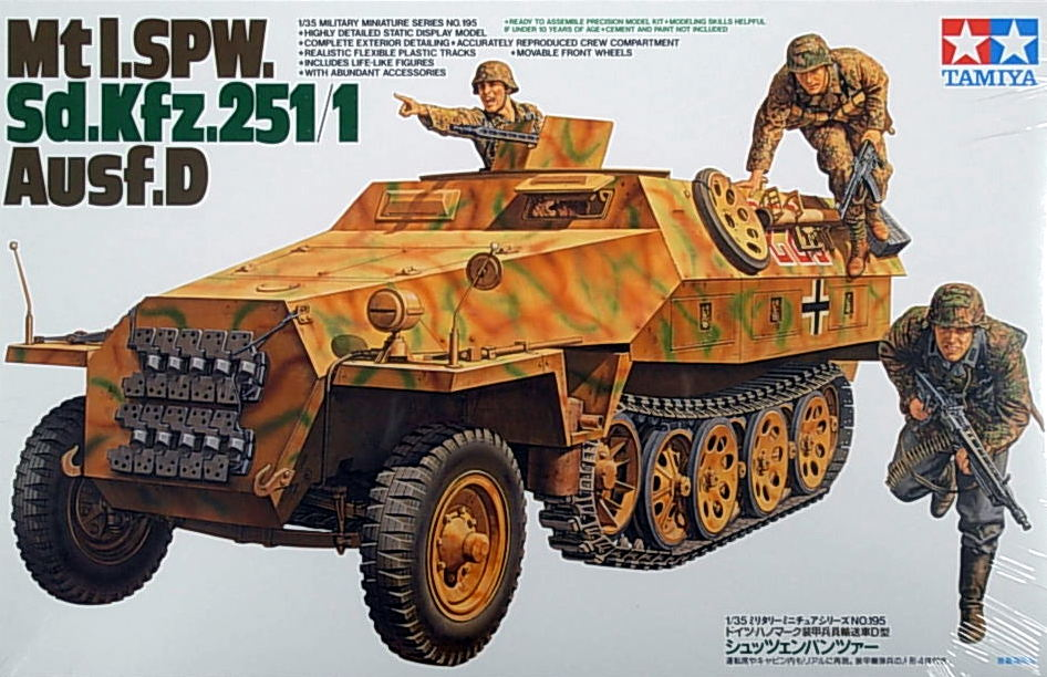 MtI SPW  Sd Kfz 251/1 Ausf D w/3 figures [t35195] - A$34 10