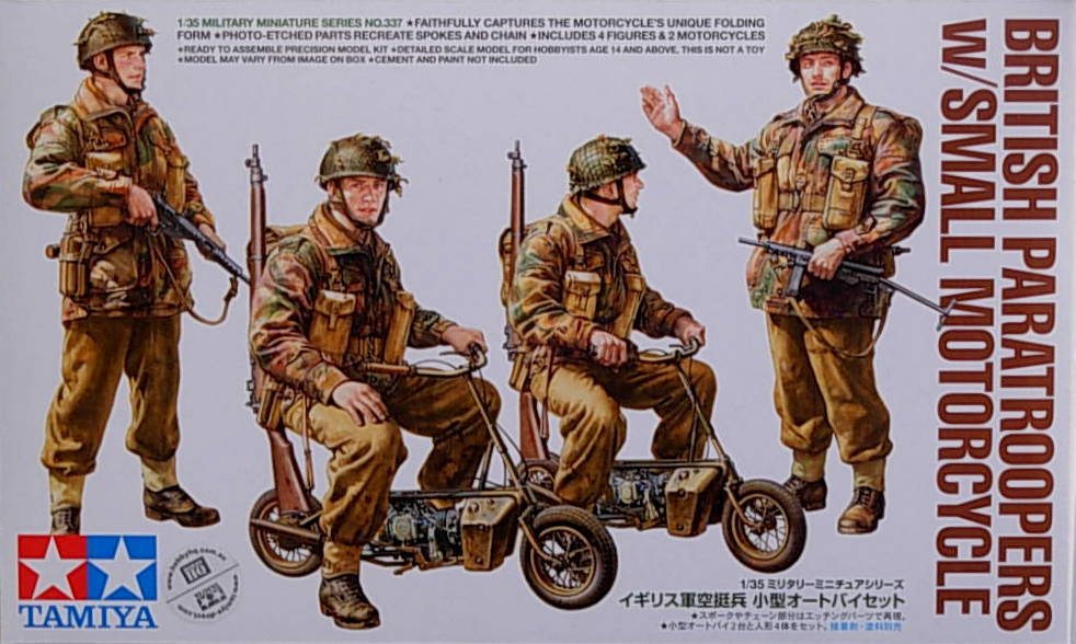 British Army Airborne troops w/fold-up bike