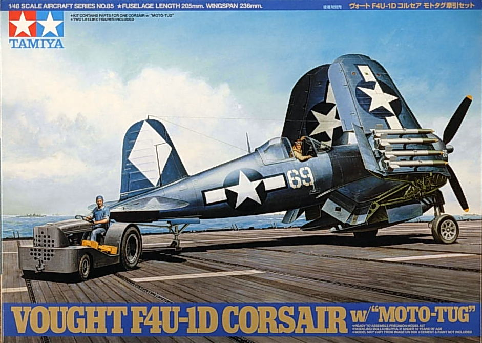 F4U-1D Corsair with Motor Tug