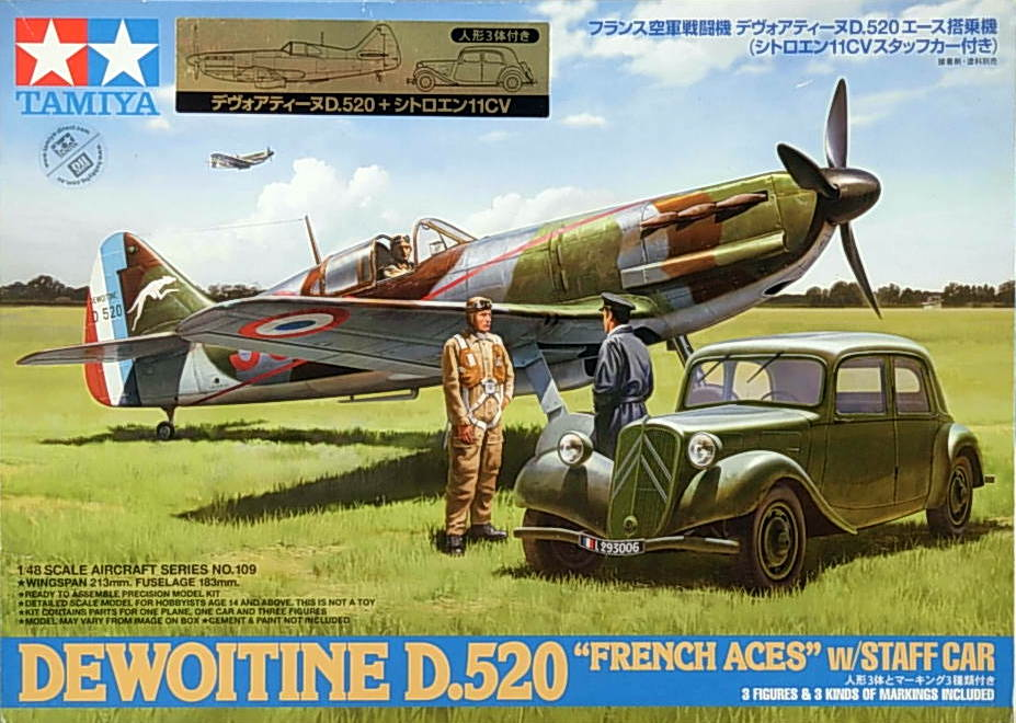 D.520 Ace Aircraft with staff Car - Click Image to Close