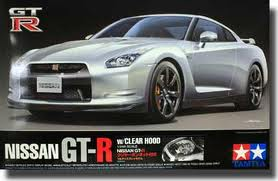 Nissan GT-R with Clear Hood