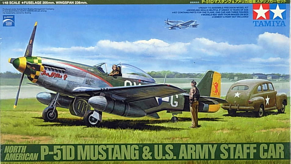 P-51D Mustang with Staff Car